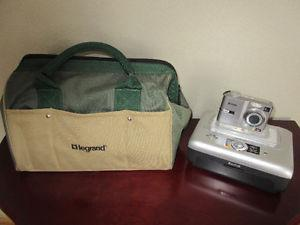 DIGITAL CAMERA WITH PRINTER AND CASE