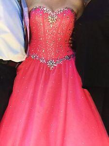 Electric Pink Grad Dress