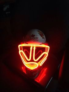 Glow up Calgary Flames Molson Canadian Helmet