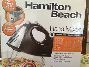 Hamilton beach hand mixer - in box
