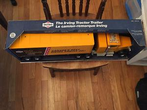 Irving Oil IDO Steel Toy Tractor Trailer Made by Nylint