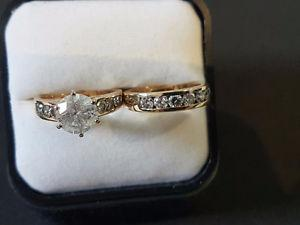 Ladies Diamond Engagement Ring and Band - Incredible