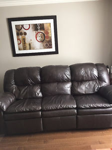 Leather Sofa & Recliner Set for Sale