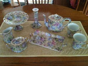 """""""Morning Glory"""" dishes - New - Never used"""
