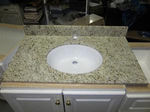 """NEW 36"""" X 21"""" Granite Top and Sink Bathroom Vanity"""