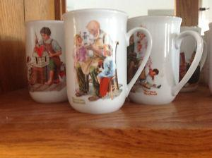 Norman Rockwell Tea cups