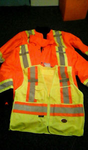 Pioneer 2 in 1 High Vis Safety Parka/Jacket and High Vis