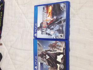 Ps4 games: Destiny and BattleField 4