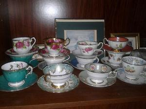 Royal Albert and others tea cups