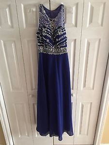 Royal Blue Grad Dress Size 8