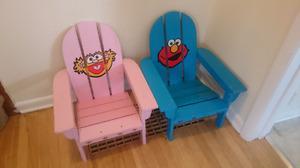 Sesame Street Adirondack Chairs