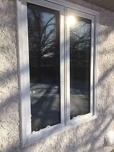 Triple pane low-e argon window