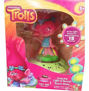 Trolls Poppy Night Light & Sounds Room Glow Storage Box