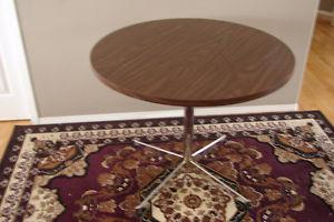 Two quality round dining tables, 36 inch diameter.