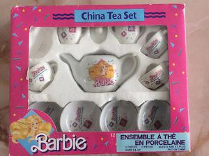 Vintage Barbie Tea Set