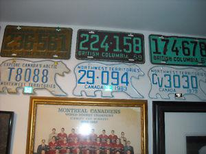 WANTED...VINTAGE LICENCE PLates