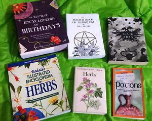 lot fo 6 books - new age - astrology - Wicca - potions -