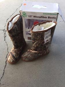 """13"""" Tall Microfiber Boots"""