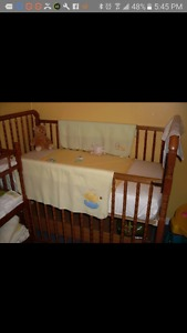 3 in 1 crib want gone ASAP taking up room