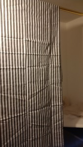 "7x Grey/White Striped Nursery Curtain Panel 80""Hx40""W NEW in"