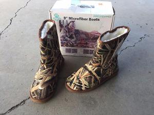 """9"""" Tall Microfiber Boots"""