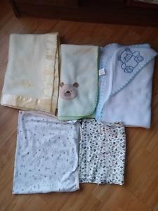 Baby blanket lot gender neutral
