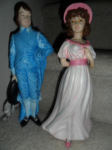 Ceramic Pinkie & Blue Boy, $ for pair. Locally made.