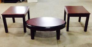 Coffee Table & 2 End Tables - $80 Delivery Available