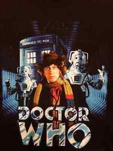 DOCTOR WHO T SHIRT MEN'S XL BLACK DR