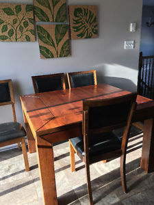 Dining Room Table and Chairs (including Bench)