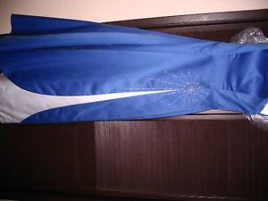 Grad Dress Blue and White