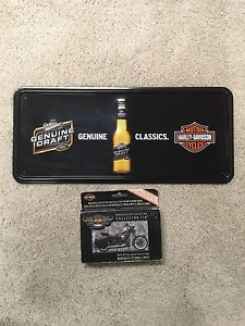 Harley Davidson Bundle Wall Mount and Playing Cards