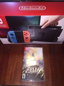 Nintendo Switch neon with Zelda