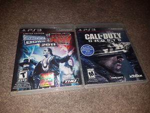 PS3 COD Ghosts and Smackdown Vs. Raw