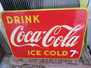 Vintage Coca Cola 7 Cent Sign