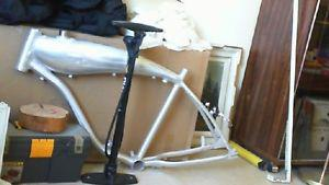 motorized bicycle frame with build in gas tank
