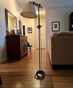 Antique rod iron lamp