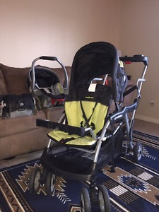 Baby Trend sit and stand with infant carrier