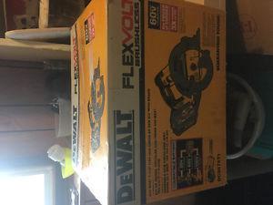 DEWALT FLEXVOLT 60V Circular Saw. Brand new in box
