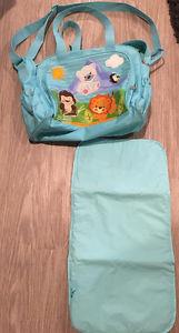 EUC Precious Planet Fisher Price Diaper Bag Tote Large Blue