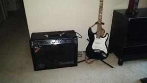 GUITAR AND STAND AND AMP RandallKirk Hammett KHW