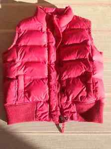 Girl's Pink Winter Vest - size