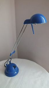 Ikea Espressivo Blue Adjustable Head Telescoping Desk Lamp