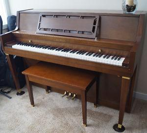 Kawai upright piano with built in humidifier