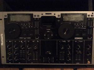 NUMARK iCDMIX3 DJ Dual CD MP3 iPod Player