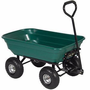 New In Box Heavy Duty Garden Dump Cart / Wheel Barrow