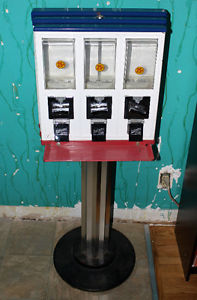 Northwestern Triple Vending Coin Candy Machine 25 cent