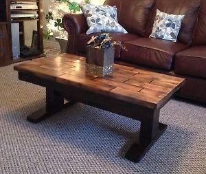 Rustic Trestle Coffee Table