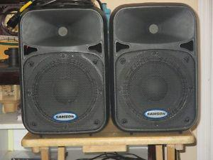 SAMSON D280 POWERED SPEAKERS, 200 WATTS EACH