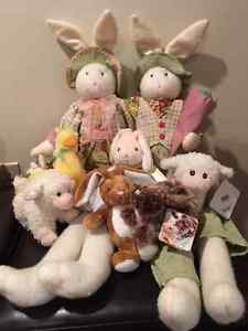 Sears Collectables Stuffed animals - Christmas and Easter.